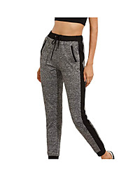 cheap -Women's High Waist Yoga Pants Drawstring Cropped Pants Breathable Gray Gym Workout Running Fitness Sports Activewear Stretchy