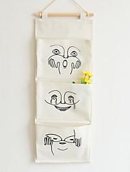 Недорогие -Японский стиль три кармана хлопка белье висит сумка вся отделка хранения 1 шт.