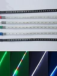 cheap -30cm 2Pcs Car Strobe Flash Decoration Strip COB LED DRL LED Flexible Strips Knight Rider Light 100% Waterproof
