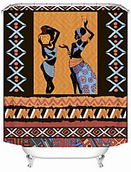 Недорогие -занавески для душа новый дизайн африканская культура цифровая печать занавески для душа