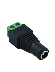 cheap -Standard Barrel LED Male Female Terminal Connectors Adapter 12V DC Power Plug Connector For CCTV LED Strip Lamp 1pcs
