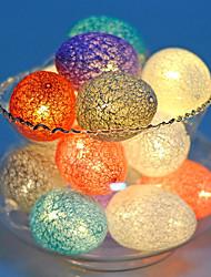Недорогие -Рождественские огни шарика яичка хлопка шарика водить