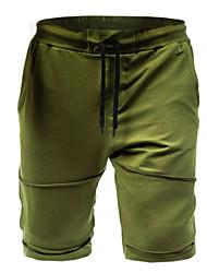 cheap -Men's Streetwear Cotton Chinos Shorts Pants - Solid Colored Black Army Green Dark Gray US32 / UK32 / EU40 / US34 / UK34 / EU42 / US36 / UK36 / EU44 / Drawstring
