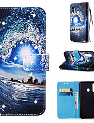 cheap -Case For Samsung Galaxy S9 / S9 Plus / S8 Plus Wallet / Card Holder / Rhinestone Full Body Cases Scenery PU Leather for Galaxy S20 PLUS S20 ULTRA S20 A51 A71 A50 A40 A30 A20 A10S NOTE10 J4 PLUS
