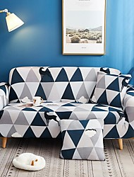 cheap -Geometric Triangle Print Dustproof All-powerful Slipcovers Stretch Sofa Cover Super Soft Fabric Couch Cover with One Free Pillow Case