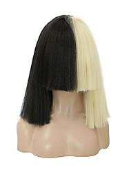 Недорогие -Косплей Sia Косплэй парики Жен. Прямая челка 15 дюймовый Термостойкое волокно Естественные прямые Разноцветный Белый Бежевый Аниме
