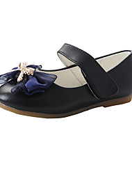 cheap -Girls' Comfort / Flower Girl Shoes Microfiber Flats Dress Shoes Little Kids(4-7ys) / Big Kids(7years +) Bowknot Black / Silver Spring / Fall / Party & Evening / Rubber