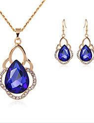 cheap -Women's Jewelry Set Classic Flower Stylish Gold Plated Imitation Diamond Earrings Jewelry Gold For Party Evening Festival 1 set