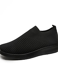 cheap -Women's Flats Flat Heel Round Toe Tissage Volant Casual / Minimalism Walking Shoes Fall / Spring & Summer Pink / Green / Black