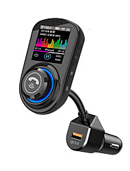 cheap -G45 Bluetooth Handsfree Car Kit 1.8 inch Color LCD Screen QC3.0 Car Charger Wireless Handsfree FM Transmitter Bluetooth 5.0 Car Radio MP3 Player