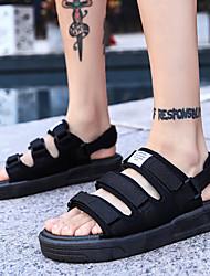 cheap -Unisex Comfort Shoes Rubber Spring & Summer Preppy Sandals Waterproof Black / White