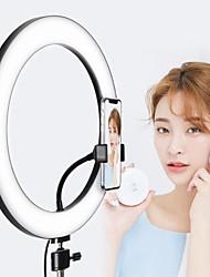 Недорогие -затемняемый светодиодный селфи кольцо света 8 Вт 5500 К студийная фотография фото заполнить кольцо света со штативом для iphone смартфон студия макияж