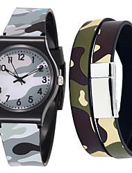Недорогие -Муж. Спортивные часы Кварцевый Pезина Серый Секундомер Очаровательный Новый дизайн Аналоговый На каждый день Мода - Серый Один год Срок службы батареи