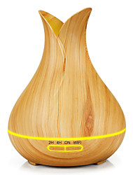 cheap -Aromatherapy machine household petal two leaf wood grain 400ml plug-in colorful diffuser ultrasonic essential oil humidification