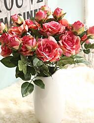 Недорогие -1 шт. Держа цветок розы одной ветви искусственный цветок украшения дома свадьба