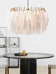 cheap -Feather Chandelier Modern Simple Living Room Warm Romantic Personality Children Room Bedroom Study 60CM Chandelier