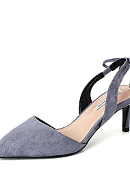 cheap -Women's Heels Stiletto Heel Pointed Toe Suede Spring & Summer Black / Blue / Daily / 3-4