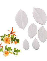 Недорогие -Роза листьев плесень помадка торт плесень силиконовые формы домашней выпечки инструмент