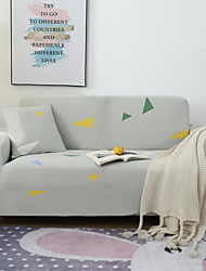 cheap -Triangle Print Dustproof All-powerful Slipcovers Stretch Sofa Cover Super Soft Fabric Couch Cover with One Free Pillow Case