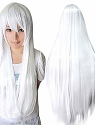 cheap -Synthetic Wig kinky Straight Halloween Asymmetrical Wig Long White Synthetic Hair 32 inch Women's Best Quality White