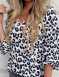 cheap -Women's Daily Shirt - Leopard Black