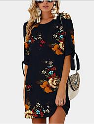 cheap -Women's Black Dress Sheath Print S M