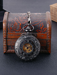 cheap -Unisex Pocket Watch Mechanical manual-winding Casual Creative Analog Black / Titanium Alloy