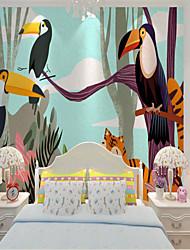 cheap -Custom self-adhesive mural wallpaper tropical big beaked bird children cartoon style suitable for bedroom children's room school party Wallpaper / Mural / Wall Cloth Room Wallcovering