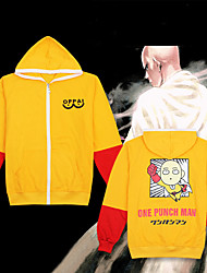 cheap -Inspired by ONE PUNCH-MAN Cosplay Costume Hoodie Pure Cotton Color Block Hoodie For Men's / Women's