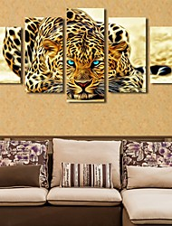 cheap -5 Panels Modern Canvas Prints Painting Home Decor Artwork Pictures DecorPrint Rolled  Stretched  Modern Art Prints  Animals Cartoon