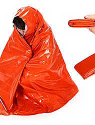 cheap -Emergency Blanket Outdoor Camping Thermal / Warm Warm Ultraviolet Resistant Thick PE 210*130 cm for 1 person Camping / Hiking Hunting Outdoor Fall Spring & Summer Orange