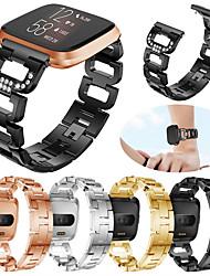 Недорогие -ремешок для часов fitbit наоборот / fitbit наоборот lite / fitbit versa 2 спортивная лента fitbit / современная пряжка / дизайн ювелирных изделий браслет из нержавеющей стали для fitbit наоборот 2