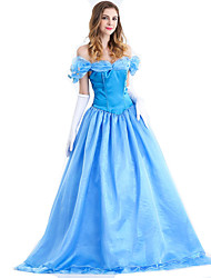 cheap -Princess Cinderella Dress Women's Unisex Movie Cosplay Vacation Dress Other Dress Halloween Carnival Elastane Tactel