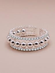 cheap -Women's Bead Bracelet Beads Precious Luxury Sweet Rhinestone Bracelet Jewelry White For Wedding Party Carnival