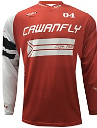 cheap -CAWANFLY Men's Long Sleeve Cycling Jersey Downhill Jersey Dirt Bike Jersey Winter Polyester Black Novelty South Africa National Flag Bike Jersey Top Mountain Bike MTB Breathable Quick Dry / Expert