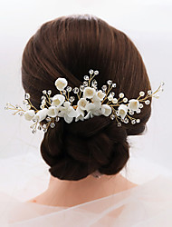 cheap -Fashionable Jewelry Cubic Zirconia / Alloy Hair Combs / Hair Stick with Rhinestone / Imitation Pearl / Crystals 1pc Wedding / Party / Evening Headpiece