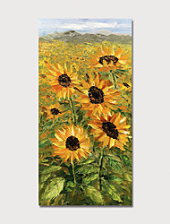 cheap -Hand Painted Canvas Oilpainting Abstract Sunflowers by Knife Home Decoration with Frame Painting Ready to Hang
