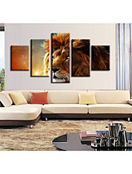 cheap -5 Pieces Printing Decorative Painting  Oil Painting  Home Decorative Wall Art Picture Paint on Canvas Prints Animals Still Life