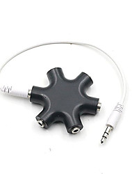 cheap -Voice Share Earphone Adapter 3.5mm Hexagon Audio distributor Headphone Splitter Extension Cord 3.5 jack Audio adapter
