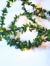 cheap -3M Artificial Plants Led String Light Creeper Green Leaf Ivy Vine For Home Wedding Decor Lamp DIY Hanging Garden Yard Lighting Powered By AAA Battery Box 1 set