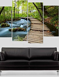 cheap -5 Panels Modern Canvas Prints Painting Home Decor Artwork Pictures Decor Print Rolled Stretched Modern Art Prints Animals Abstract
