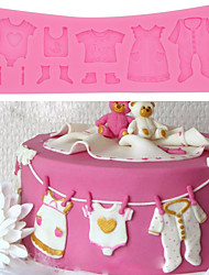 cheap -1pc Baby Clothes Shoes Cake Mold baking pastry DIY