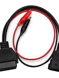 cheap -Fiat 3 Pin Alfa Lancia to 16 Pin OBDII OBD2 obd-II Connector Adapter Auto Car Cable Obd for fiat 3pin Diagnostic Cable