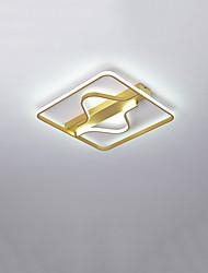 cheap -40 cm Square Line Design Flush Mount Lights Metal Modern Style / Linear Brushed / Painted Finishes LED / Modern 110-120V / 220-240V