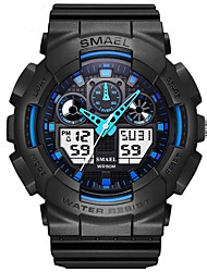 cheap -Men's Sport Watch Automatic self-winding Casual Water Resistant / Waterproof Analog - Digital Black Blue Green / One Year / PU Leather / Japanese / Calendar / date / day / Stopwatch