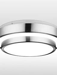 cheap -1-Light 30cm LED Flush Mount Lights Aluminum Electroplated 90-240V