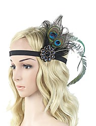 cheap -Artificial feather Headpiece with Feather 1 Piece Carnival / Masquerade Headpiece