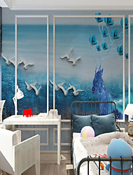 cheap -Custom self-adhesive mural wallpaper tree climbing bear picture children cartoon style suitable for bedroom children's room school party  Wallpaper / Mural / Wall Cloth Room Wallcovering