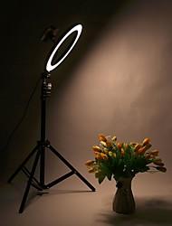 Недорогие -Светодиодная подсветка кольца таймера автоспуска 30см металлическая затемняемая фотография / свет мобильного телефона с штативом 210см для макияжа видеостудии