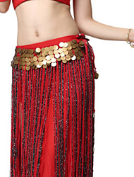 cheap -Belly Dance Bottoms Women's Performance Polyester Tassel / Paillette Skirts